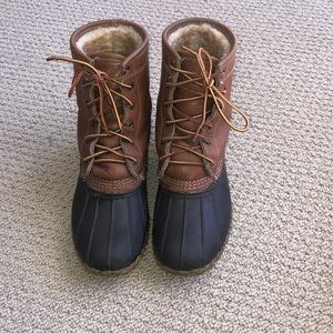 """Women's L.L. Bean Boots 8"""" Leather Shearling Lined"""